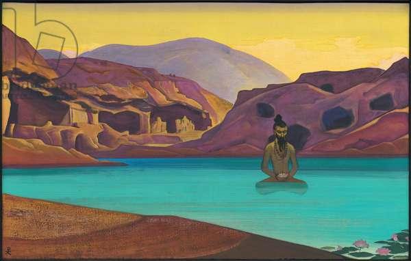 Lotus, 1933 (tempera on canvas)
