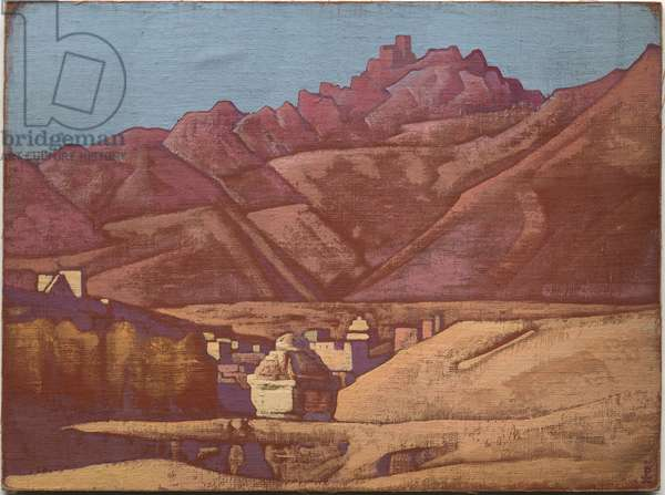 Leh, Ladakh, 1925 (tempera on canvas laid on cardboard)
