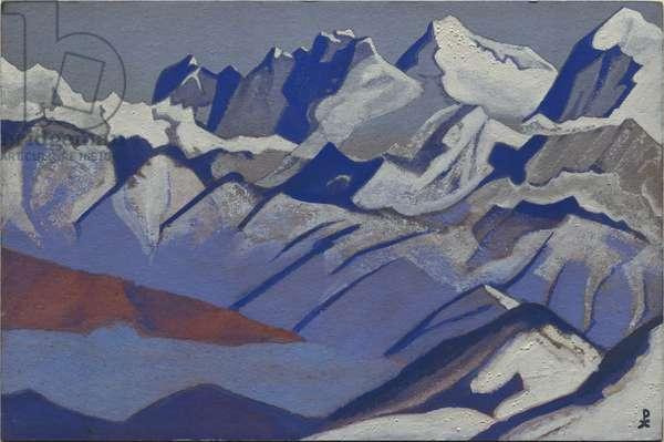 Everest, 1936 (tempera on cardboard)