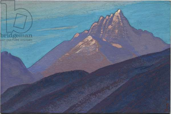 Himalayas, 1938 (tempera on cardboard)
