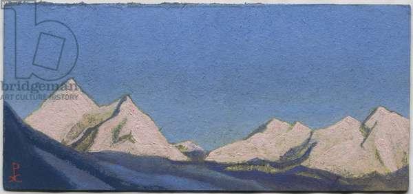 Himalayas, 1944 (tempera on cardboard)