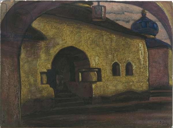 Pskov, 1922 (tempera on cardboard)