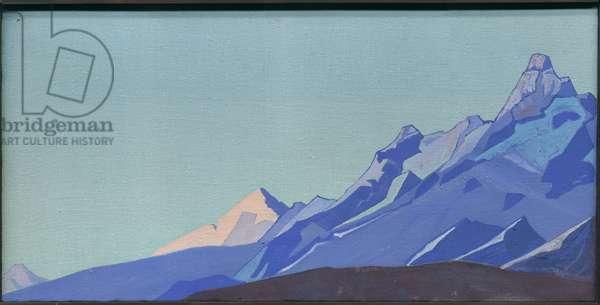 Himalayas, Evening, 1933 (tempera on canvas)