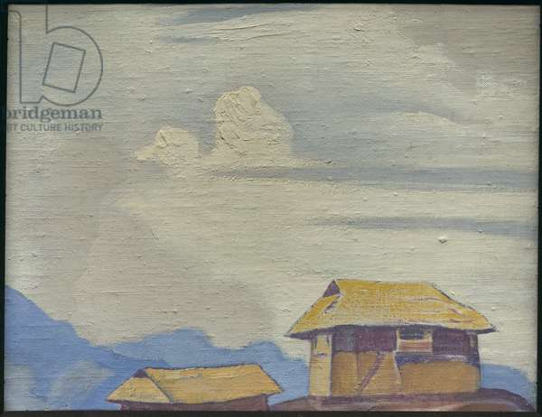 Talung Monastery, 1928 (tempera on canvas laid on cardboard)