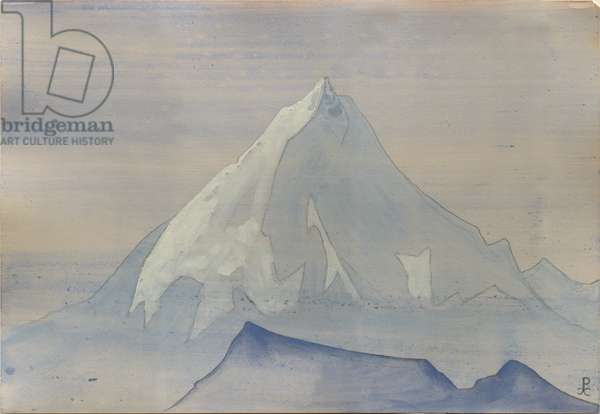Himalayas, album leaf, 1934 (tempera and pencil on paper)
