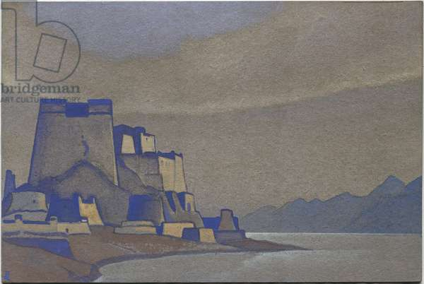 Tibet, Dzong, 1936 (tempera on cardboard)