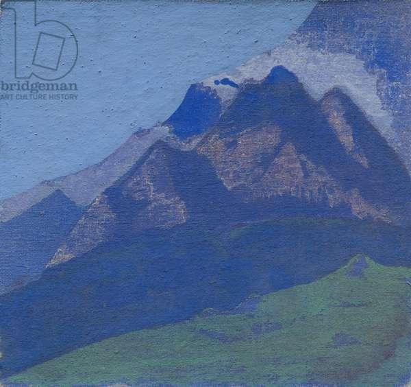 Mountain study, c.1929 (tempera on canvas laid on cardboard)