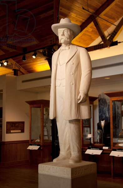 Statue of Jack Daniels at the whiskey distillery in Lynchburg Tennessee (photo)