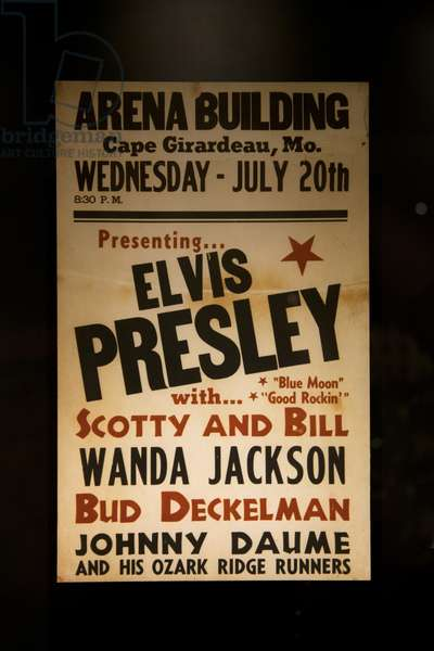 1955 Elvis Presley concert poster (photo)