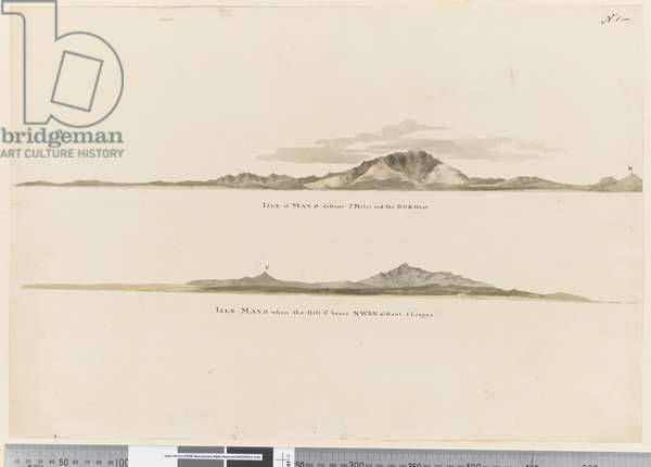 Page 1 (a) Profile of the coast of the Isle of Mayo, Cape Verde Islands. (b) Profile of the coast of Isle of Mayo Cape Verde Islands, looking north west, 1768-75 (pencil, pen & ink and wash)