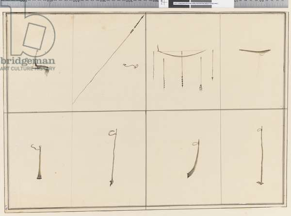 Page 36 Native weapons. Unsigned, untitled and undated, 1768-75 (pen & ink)