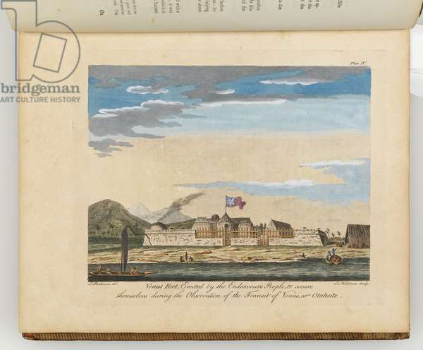 Venus Fort, illustration from 'A journal of a voyage to the South Seas : in His Majesty's ship, the Endeavour', 1794 (hand-coloured engraving)