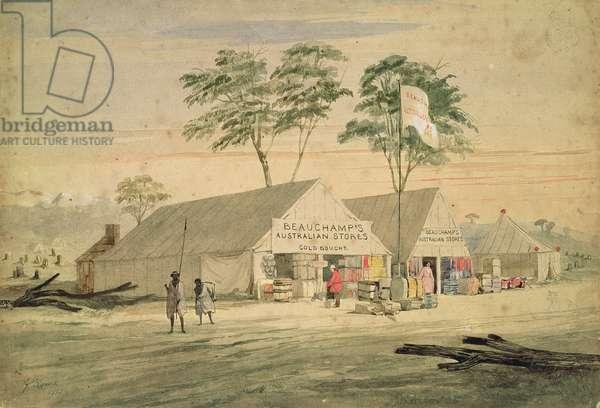 Beauchamp's Australian Stores, Victoria Place, Bendigo, 1853 (w/c)