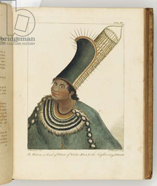 Illustration from 'A journal of a voyage to the South Seas : in His Majesty's ship, the Endeavour', 1794 (hand-coloured engraving)