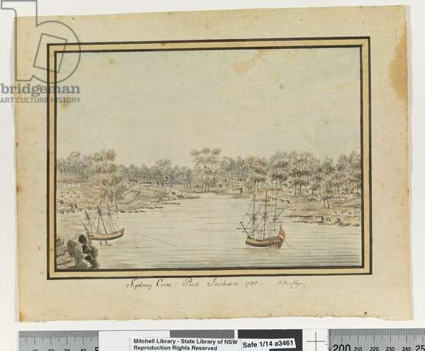 Opp. p. 84. `Sydney Cove, Port Jackson. 1788', c.1802 (w/c)