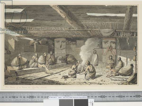 F.24 The Inside of a House in Nootka Sound, c.1773-84 (w/c)