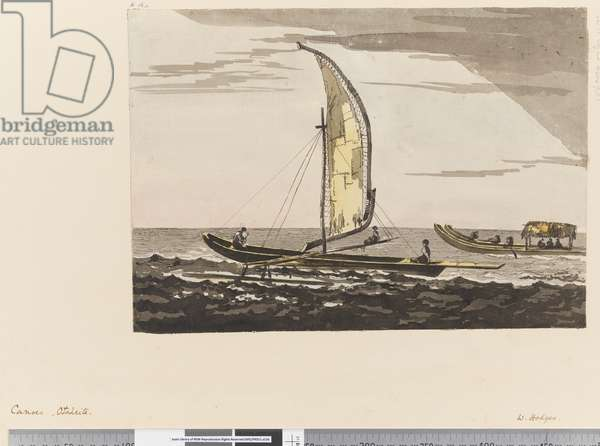 Page 15a Canoes, Otaheite, 1768-75 (w/c)