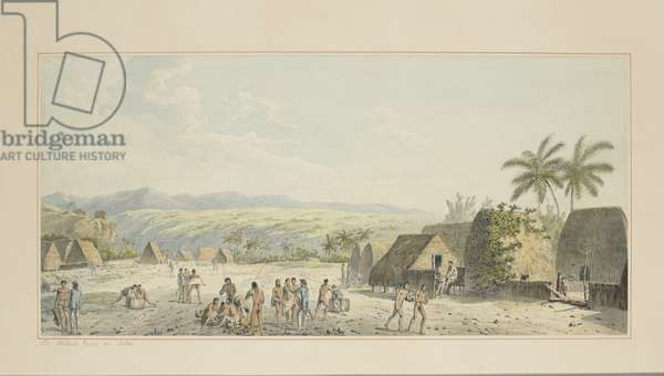 19: An Inland View, on Atooi, from a series of watercolours illustrating Captain Cook's last voyage, c.1773-84 (w/c on paper)