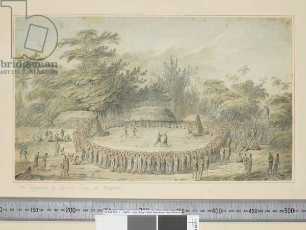 F.4 The Reception of Captain Cook in Hapaee, c.1773-84 (w/c & print engravings)