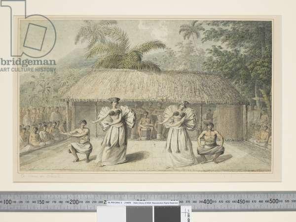 F.13 A Dance in Otaheite, c.1773-84 (w/c)