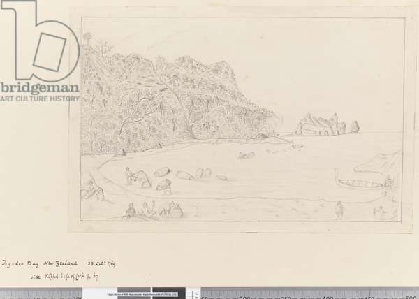 iv. A View of the Watering Place Tegadoo Bay, New Zealand, 23 Oct 1769