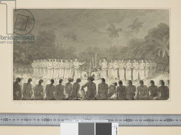 F.6 A Night Dance by Women in Hapaee, c.1773-84 (w/c)