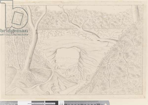 v Great Natural Arch, 75' long, 27' broad, 45' high, Tegadoo Bay, New Zealand, 1769