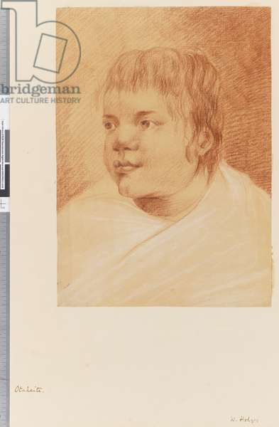 Page 18 Otaheite native, 1768-75 (red and white chalk)