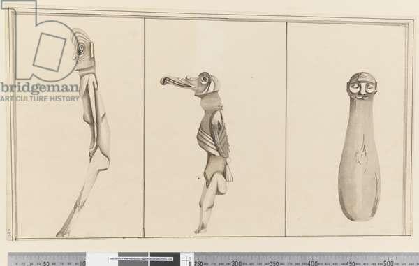 Page 35 Three native idols, 1768-75 (w/c)