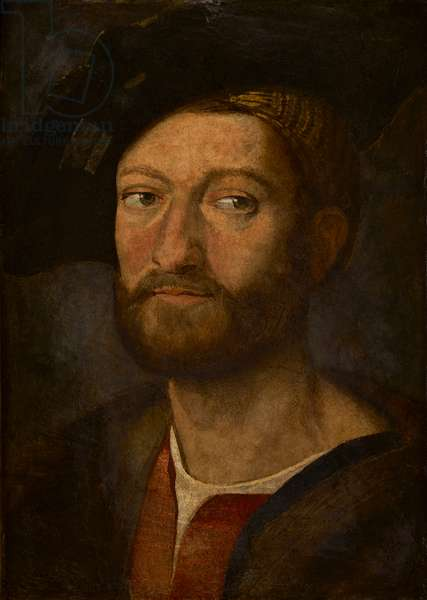 Portrait of a man, said to be Giuliano de Medici, Duke of Nemours (oil on panel)