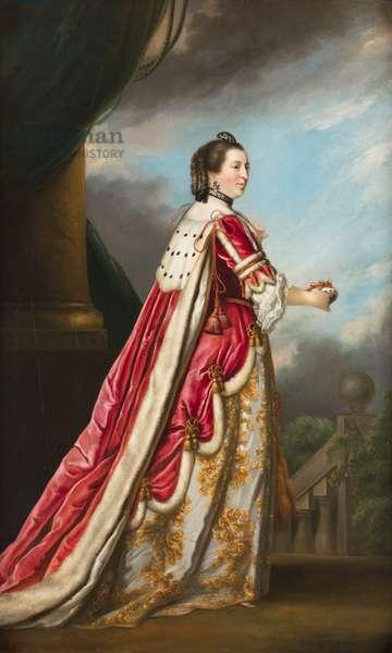 Portrait of Elizabeth, Duchess of Northumberland (oil on canvas)