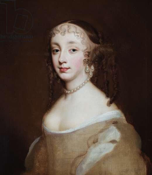 Portrait of Princess Henrietta, Anne Duchess of Orleans (oil on canvas)