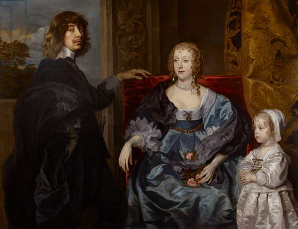 Portrait of Algernon, 10th Earl of Northumberland, with his wife and daughter (oil on canvas)