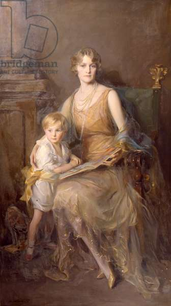 Portrait of Helen, wife of the 8th Duke of Northumberland and Lord Geoffrey Percy (oil on canvas)
