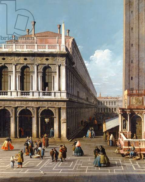 Venice, the Piazza S. Marco, looking West from the North end of the Piazzetta, c.1740 (oil on canvas)