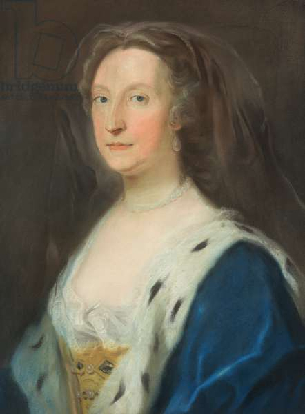 Portrait of a lady (pastel drawing)