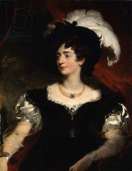 Portrait of Charlotte Florentia, wife of Hugh, 3rd Duke of Northumberlandm 1828-29 (oil on canvas)
