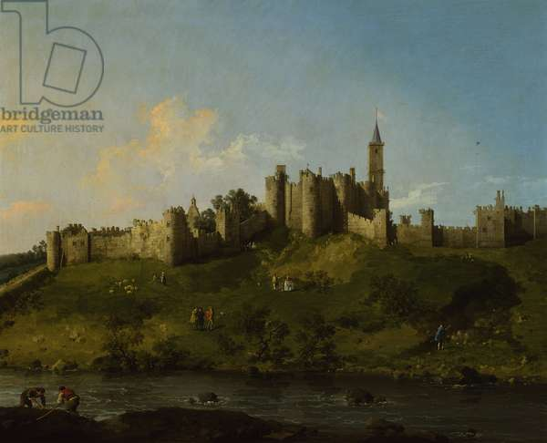 A view of Alnwick Castle, 1751-52 (oil on canvas)