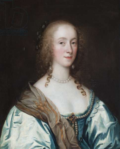 Portrait of a lady, said to be Margaret Hewett, Lady Paston (oil on canvas)