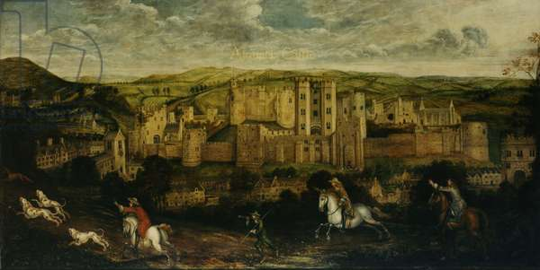 A prospect of Alnwick Castle, 17th century (oil on canvas)