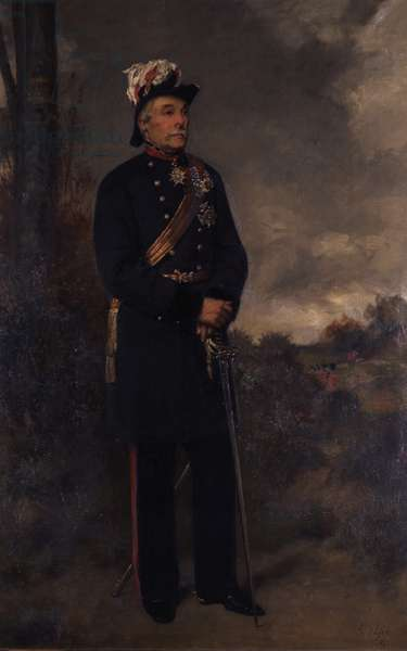 Portrait of Major-General Lord Henry Percy, V.C., 1878 (oil on canvas)