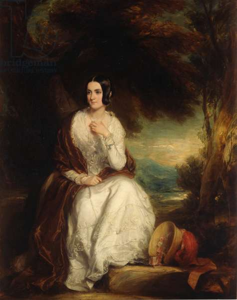 Portrait of Eleanor, wife of the 4th Duke of Northumberland, c.1844 (oil on canvas)