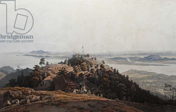 View from the Convalescent Bungalow, Prince of Wale's (sic) Island, c.1820 (coloured aquatint)