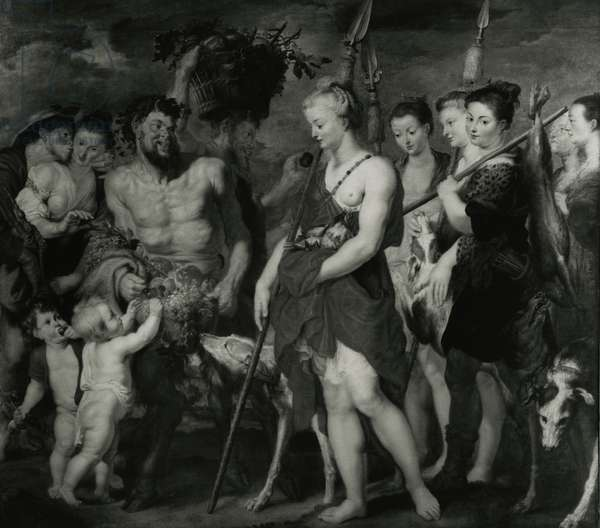 Diana returning from the Hunt (oil on canvas)
