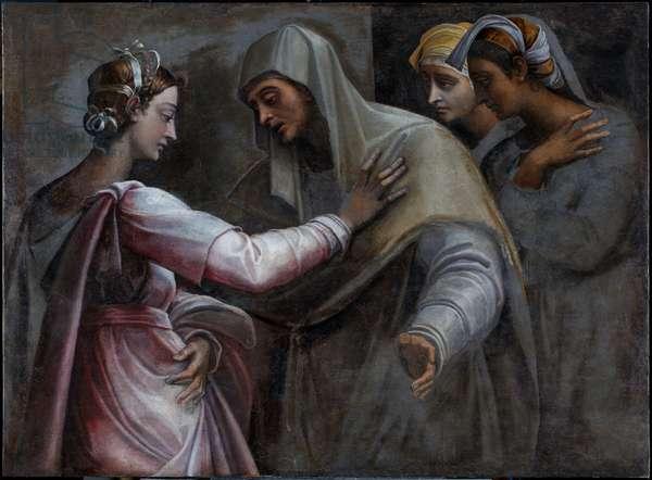 The Visitation - Mary and Elizabeth, 1535-40 (fresco transferred to canvas)