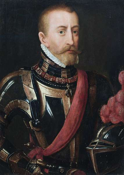 Portrait of a nobleman in armour (oil on panel)