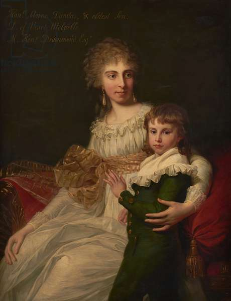 Portrait of the Hon. Mrs Henry Drummond with her son, Henry (oil on canvas)