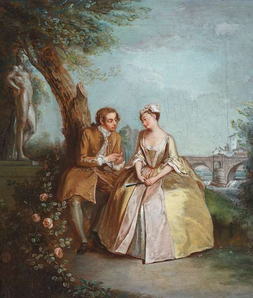 Conversation Piece, or Lovers in a Park, c.1727 (oil on canvas)