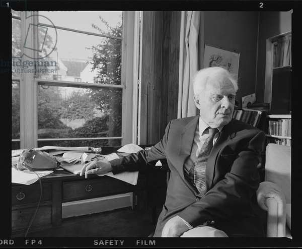Sir Stephen Spender CBE, August 1985 (b/w photo)