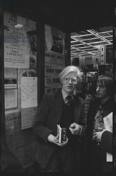 Andy Warhol, November 1975  (b/w photo)
